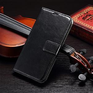 Samsung Galaxy S6 Læder Cover m. Kortholder - Sort