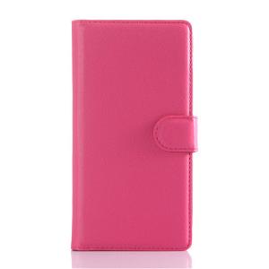 Sony Xperia Z5 Soft Pouch Læder Etui m. Pung Pink
