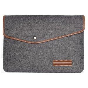 "Uldfilt Laptop Sleeve 15"" - Mørkegrå"