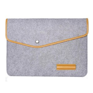 "Uldfilt Laptop Sleeve 15"" - Lysegrå"
