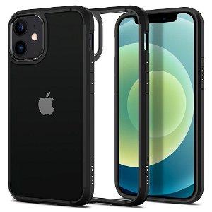 iPhone 12 Mini Spigen Ultra Hybrid Cover - Gennemsigtig / Sort