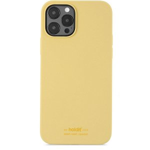 Holdit iPhone 12 / 12 Pro Soft Touch Silikone Cover Gul