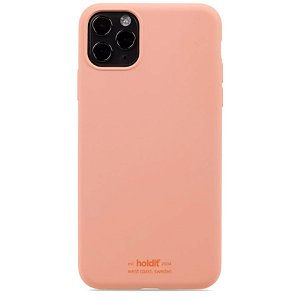 Holdit iPhone 11 Pro Max Soft Touch Silikone Bagside Cover - Pink Peach