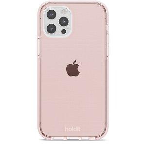 Holdit iPhone 12 / 12 Pro Seethru Cover - Blush Pink