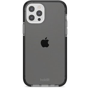 Holdit iPhone 12 / 12 Pro Seethru Cover - Sort