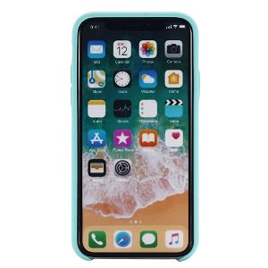 iPhone 11 Pro Max Soft Silicone Cover Cyanblå *