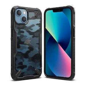 iPhone 13 Ringke Fusion X Deksel - Camo Sort / Gennemsigtig