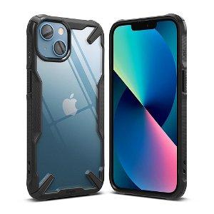 iPhone 13 Ringke Fusion X Case - Sort / Gennemsigtig