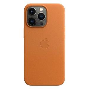 Original Apple iPhone 13 Pro Læder MagSafe Bagside Cover Golden Brown (MM193ZM/A)