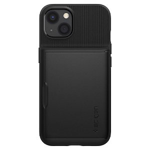 iPhone 13 Spigen Slim Armor CS Bagside Cover - Sort