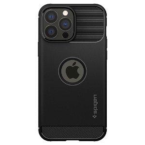 iPhone 13 Pro Spigen Rugged Armor Bagside Cover - Sort