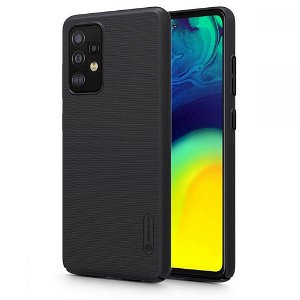 Samsung Galaxy A52 (4G / 5G) NILLKIN Frosted Shield Bagside Cover inkl. Stander - Sort