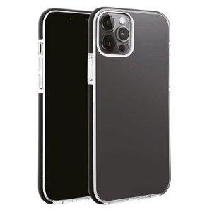 iPhone 13 Pro Max Vivanco Rock Solid Bagside Cover - Gennemsigtig & Sort