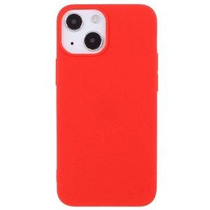 iPhone 13 Mini Fleksibelt Plastik Bagside Cover - Rød