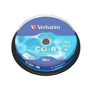 Verbatim CD-Rom 52X Extra Protect m. 700 MB - 10 Stk.