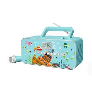 MUSE Transportabel Karaoke Radio til Børn m. Mikrofon Til Karaoke - Underhavs Eventyr