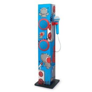 MUSE bluetooth Karaoketårn til Børn m. Mikrofon - Rød & Blå Drage