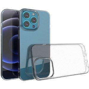 iPhone 13 Pro Crystal Clear Fleksibel Plastik Bagside Cover - Gennemsigtig