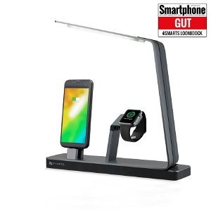 4smarts LoomiDock Charging Station w. LED Lamp For Apple Devices Sort / Sølv