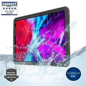 iPad Pro 12.9 (2020) - 4smarts Rugged Waterproof Case Stark (Vandtæt Cover) - Sort