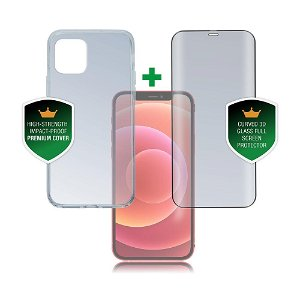 iPhone 12 Mini 4smarts 360⁰ Protection Set Premium Edition (Cover + Skærmbeskyttelse)