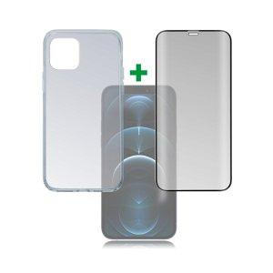 iPhone 12 / 12 Pro 4smarts 360⁰ Protection Set Premium Edition (Cover + Skærmbeskyttelse)