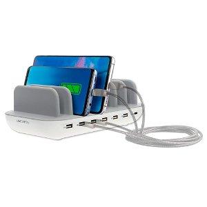 4Smarts 60W Charging Station m. 6 x USB-A & 1 x USB-C - Hvid