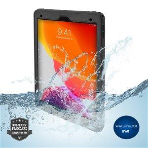 iPad 10.2 (2021 / 2020 / 2019) 4smarts Rugged Waterproof Case Stark (Vandtæt Cover) - Sort