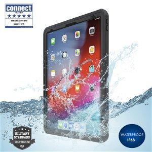 iPad Pro 12.9 (2018) - 4smarts Rugged Waterproof Case Stark (Vandtæt Cover) - Sort
