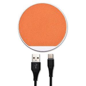 4Smarts Select Trådløs Qi Oplader 10W - Orange / Brun