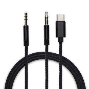 4smarts USB-C & 3.5mm til 3.5mm AUX SoundCord Sort