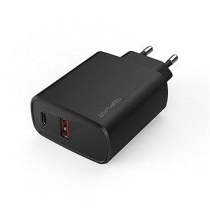 4Smarts Voltplug (Quick Charge) 25W Vægoplader m. 1 x USB-A / 1 x USB-C - Sort