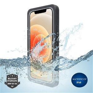 4Smarts Active Pro STARK - iPhone 12 Vandtæt Cover - Sort