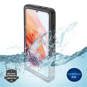 Samsung Galaxy S21 Vandtæt Cover - 4smarts Active Pro STARK - Sort