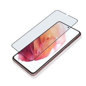 4smarts Samsung Galaxy S21+ (Plus) Endurance Hybrid Glas Crystal Clear Hærdet Glas - Full Fit - Sort