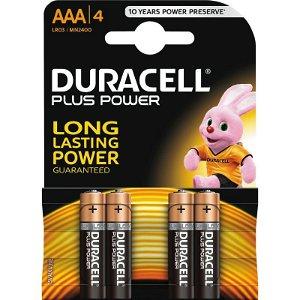Duracell Plus Power AAA Alkaline 4pk Batterier