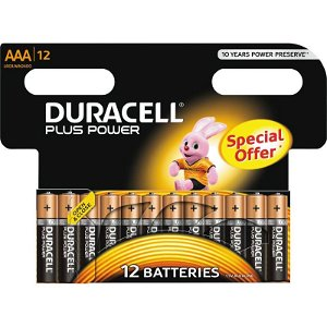 Duracell Plus Power AAA 12pk SO Batterier