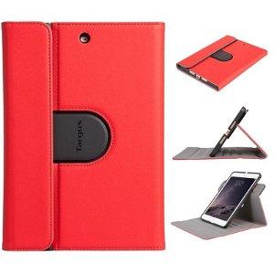 Apple iPad Mini 1/2/3/4 Targus Læder Cover m. 360 Graders Rotation & Stand - Rød