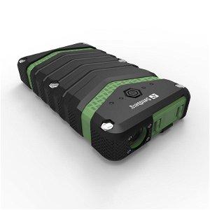 Sandberg 30W Survivor PowerBank 20.100mAh m. 2 x USB-A & USB-C  - Sort/Grøn