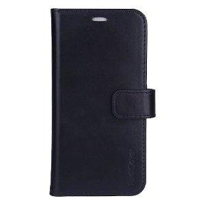 RadiCover 2-in-1 - iPhone 13 - Ægte Læder Flip Cover - 86% Strålingsbeskyttelse - Sort