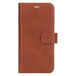 RadiCover 2-in-1 - iPhone 13 - Ægte Læder Flip Cover - 86% Strålingsbeskyttelse - Lysebrun