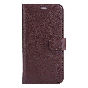 RadiCover 2-in-1 - iPhone 13 - Kunst Læder Flip Cover - 86% Strålingsbeskyttelse - Mørkebrun