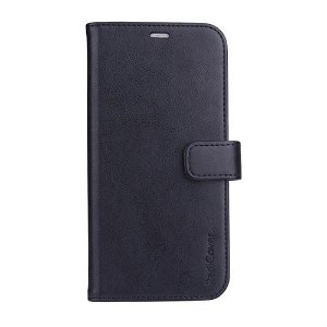 RadiCover - iPhone 13 Pro - Kunst Læder Flip Cover - 86% Strålingsbeskyttelse - Sort