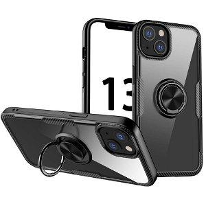 iPhone 13 Mini Håndværker Bagside Cover m. Magnetisk Kickstand - Sort
