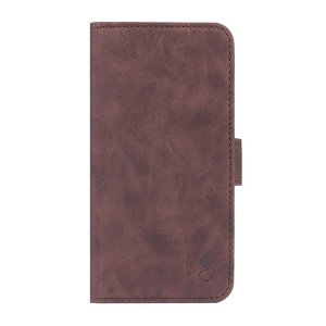 GEAR iPhone 13 Wallet - Læder Flip Cover m. Pung - Brun