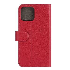 iPhone 13 Pro Max Gear Wallet - Læder Flip Cover m. Pung - Rød