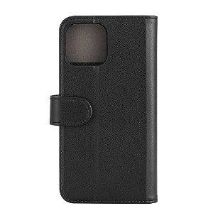 iPhone 13 Pro Max Gear Wallet - Læder Flip Cover m. Pung - Sort