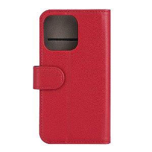 iPhone 13 Pro  Gear Wallet - Læder Flip Cover m. Pung - Rød