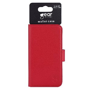 iPhone 13 Mini Gear Wallet - Læder Flip Cover m. Pung - Rød