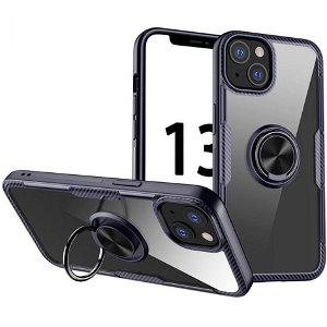 iPhone 13 Mini Håndværker Bagside Cover m. Magnetisk Kickstand - Sort / Blå